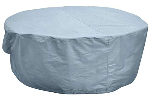 Kingsbridge Large Round Garden Patio Table Cover (220cm) Waterproof-Heavy Duty 600D Fabric-Double Stitching-Breathable (DxH) 220x80cm Outdoor Furniture Cover