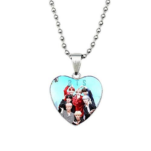 AMA-StarUK36 Pulsera Colgante Collar de Amor Foto Tiempo Gema Joyas Cadena de Acero...