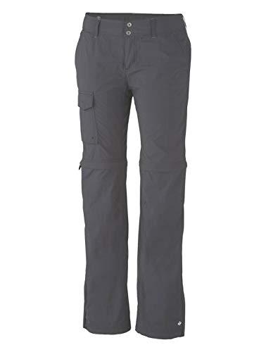 Columbia Silver Ridge Convertible Pant Pantalón de Senderismo 2-en-1 para Mujer, Gris (Grill), W40/R