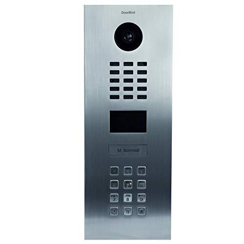 DoorBird D2101KV IP-Video-Türstation mit 1 Ruftaste und Tastenmodul, Gebürsteter Edelstahl
