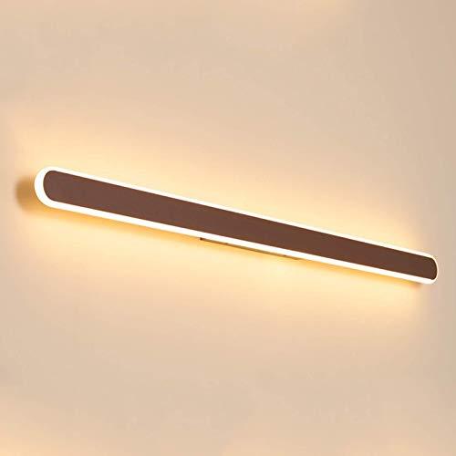 CCLLA Espejo de baño Frontal marrón Claro, iluminación LED Moderna sobre Espejo con 3 temperaturas de Color, Pantalla de acrílico, Espejo de Metal, Luces de gabinete, lámpara de Pared para Inodoro