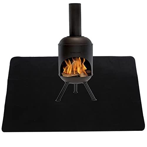 SIRUITON Tapis de Gril Tapis Résistant aux Flammes Réutilisable pour Barbecue pour Barbecue Camping Fête Pique-Nique 95 * 45CM
