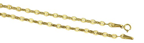 Hobra-goud, 55 cm, 585 gouden ketting, goud, 14 karaat Fonkelende halsketting.
