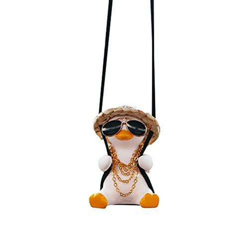 Swinging Duck Auto Hanging Ornament, Nette Schaukel-Ente auf Auto-Rückspiegel-Anhänger Swing Duck Auto-Spiegel Schaukelente für Auto Auto Dekoration Ornament Zubehör