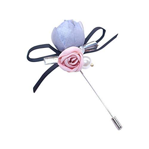 Dosige Flower Reverse Flower Broche Stick voor Flower knoopsluiting voor heren kostuum Oranje.