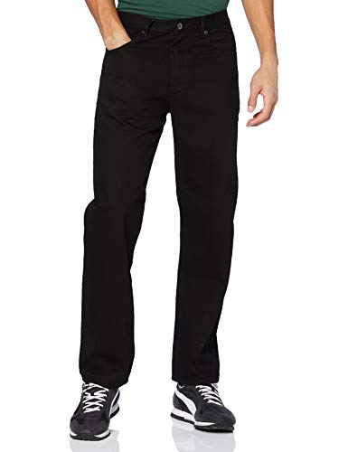 Enzo Herren Straight Jeans BCB5, Schwarz (Black), 44R