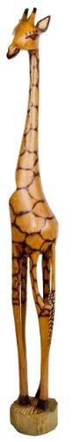 Holzgiraffe Samia in Verschiedene Größen Handarbeit aus SIMBABWE Afrika Deko sehr hochwertige Holz Giraffe Firgur Holzfigur, 100cm