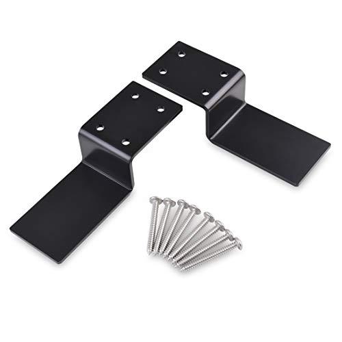 """Heavy Duty Door Barricade Brackets  Drop Bar Security Door Lock Brackets Set of 2-Fits 2""""x4"""" Lumber."""