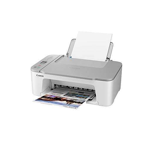 Canon Farbtintenstrahldrucker PIXMA TS3451 Multifunktionsgerät DIN A4 (Scanner, Kopierer, Drucker, 4800 x 1200 DPI, LCD, WLAN, USB, Apple AirPrint, PIXMA Cloud Link, Duplexdruck), weiß