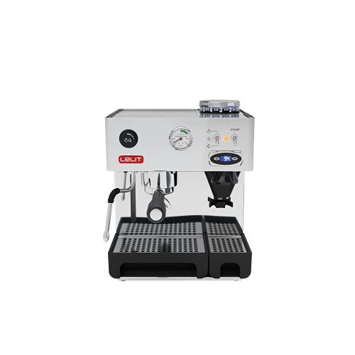 Lelit PL042TEMD Anita, máquina Profesional con Molinillo de café Integrado y Termo PID para gestionar la Temperatura, 1000 W, 2.7 litros, Acero Inoxidable, Plata