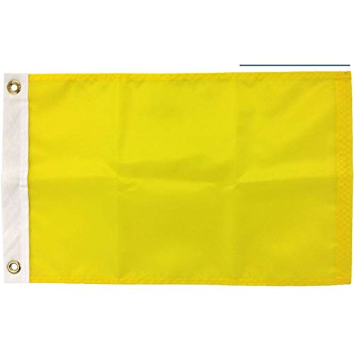 Quarantine Flag, 200 Denier All-Weather Nylon, for Sailing and Boating Port Entry, Made in USA (16x24)