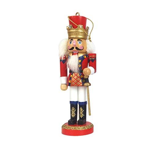 Guizhou 1 pieza de madera Cascanueces muñeca soldado figuras miniatura vintage artesanía marioneta para Año Nuevo Navidad adornos decoración del hogar