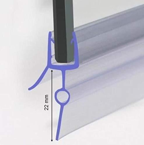 Duschdichtung für 4-6mm Duschtrennwand, Dichtung 60 cm lang, Höhe der Lippe 22mm