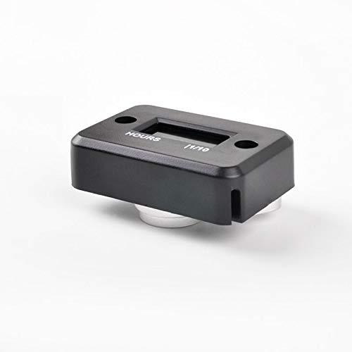 Runleader Digital Induktive Betriebsstundenzähler, Wartungsstundenzähler für Reiten Rasenmäher Traktor Holzspalter Boot Außenborder Marine Inverter (Inklusive Halterung-HMB004) (HM006A-M4-BK)