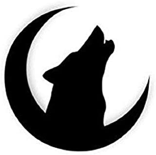 Pack of 3 Wolf On Moon Stencils Made from 4 Ply Mat Board 11x14, 8x10, 5x7