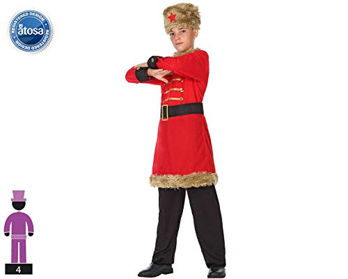 Atosa-56810 Disfraz Ruso, Color Rojo, 5 a 6 años (56810)