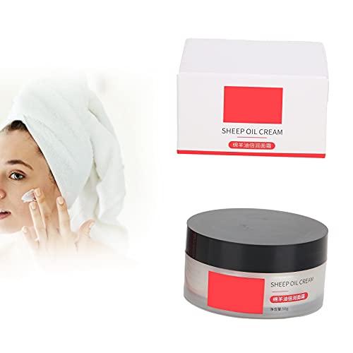 Crema hidratante para la piel, hidratante antienvejecimiento Crema antiarrugas Crema facial reparadora de hidratación profunda Crema facial de lanolina para curar la piel seca Crema hidratante para el