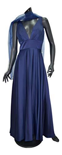 Yada - Vestido largo de ceremonia para mujer, art. 92105 azul