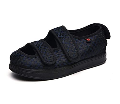 DXDUI Zapatos diabéticos Hombres Sandalias Zapatos Edema Inflable Transpirable Zapatero Zapatos Ajustables Zapatos Grandes Unisex