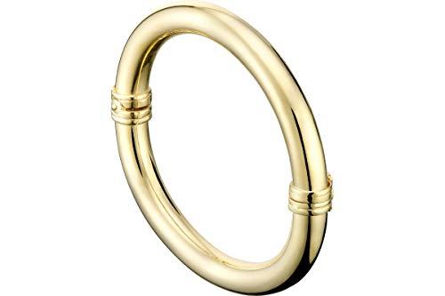Canyon Bijoux - Pulsera articulada de plata 925, oro de 18 K, 25,1 g, diámetro de 55 mm