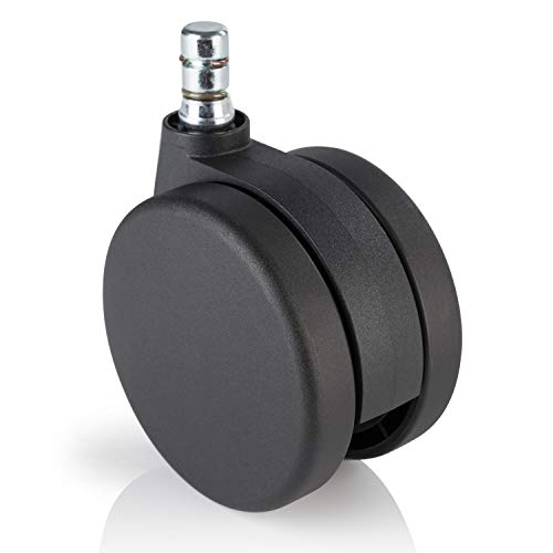 hjh OFFICE 3 inch Office Chair Caster Wheels (Set of 5) 7/16 inch Stem Diameter, Casters for Carpet Floors