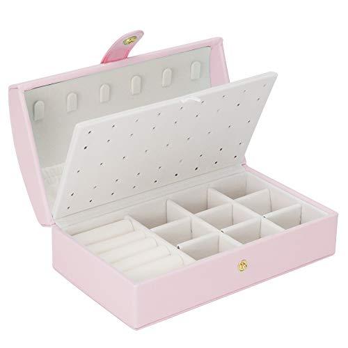 LICHUXIN Caja de Joyería de Viaje Mini Jewelry Organizer Caja Viaje Portátil Organizer Caja para Pendientes Pulseras Anillos Almacenamiento y Expositor