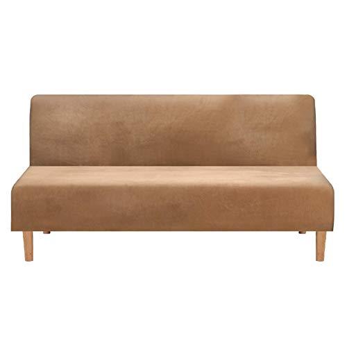 POHOVE Samtbezug für Sofa/Bett, ohne Armlehnen, Stretch-Futon-Sofa, elastischer Möbelschutz, einfarbig, rutschfest, waschbar