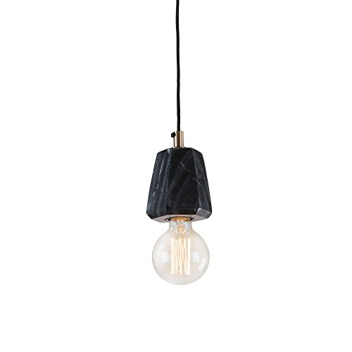 Kave Home - Lámpara de techo Bray negra de 1 bombilla de m