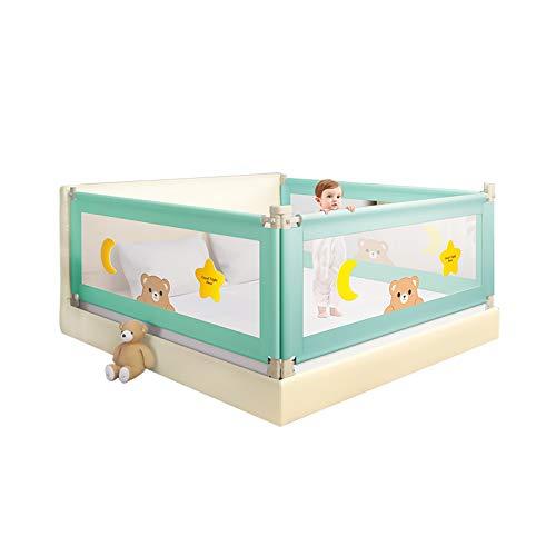 Barandilla de cama para niños pequeños Barandilla de cama de doble bloqueo, 1,2 m-2,2 m plegable seguridad extra larga elevación vertical bebé anciano corralito protector