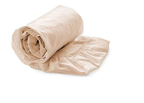 Heckett Lane 100% Baumwolle Perkal Spannlaken 140x200+35 cm. Bleached Sand