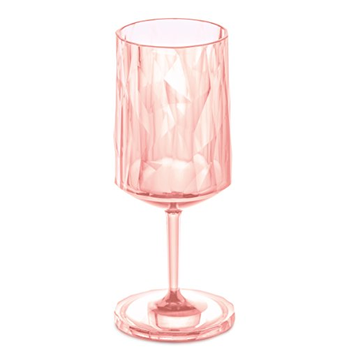 Koziol 3401654Club No. 10,2cm, 350ml, bicchiere da vino, quarzo, trasparente Superglas
