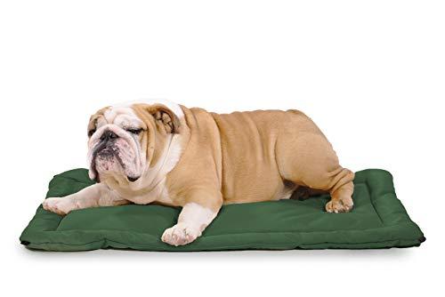 K9 Ballistics Tough Dog Crate Pad - Washable, Durable and Waterproof Dog Crate Beds - Dog Crate Mat, Medium 35'x22.5' Green