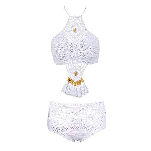 SHISAIGOU Koreanische Version der Wulstige Split Badeanzug Damen Sexy gestrickte Bikini europäische und amerikanische Hot Spring Gestrickte Badeanzug (Color : Download, Size : M)