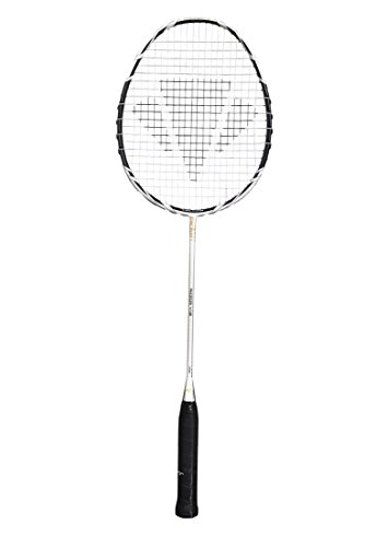 Dunlop Badmintonschläger Carlton Razor V1.2, Schwarz/Silber, L 4