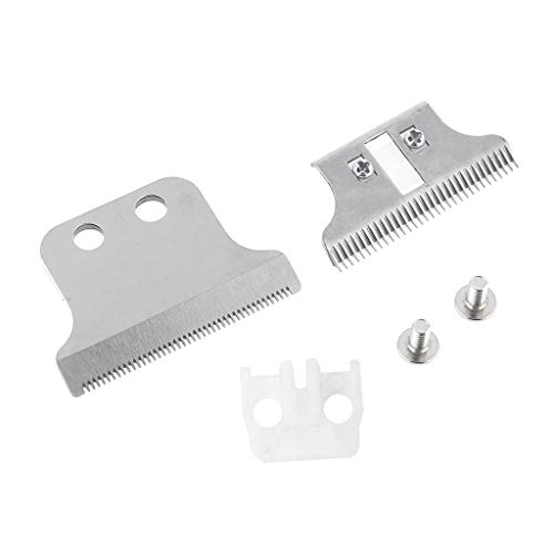niumanery 8081 Replacement Blade Hair Clipper Blade Cutter Head for Electric Trimmer Silver