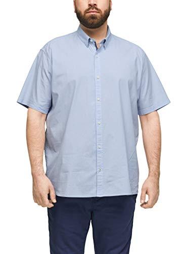 s.Oliver Big Size Herren 131.10.103.11.120.2101011 Hemd, Light Blue Stripes, 4XL