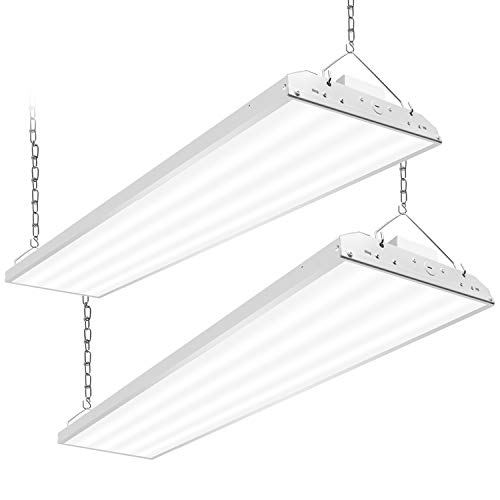 CINOTON 4FT Linear LED High Bay Light, LED Shop Light Fixture 223W 28990lm 1-10V dimmable 5000K [750W Fluorescent Equiv.] Motion Sensor Optional, Indoor Commercial Warehouse Area Light (223W 2 Pack)