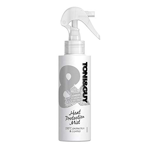 Toni&Guy Heat Protection Mist Hittebeschermingsspray voor stijltangen, föhn, krultang, hittebescherming tot 230 graden, anti-statische haarbeschermingsspray voor haarverzorging, 150 ml