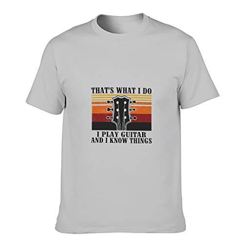 Relaxident Camiseta de algodón para hombre con diseño de alfabeto y manga corta