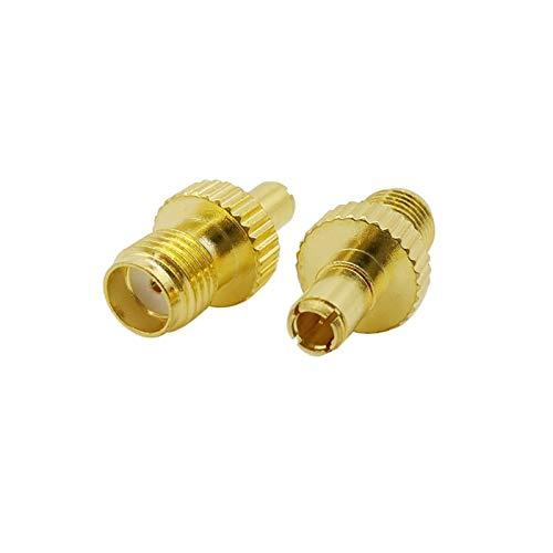 ZHOUCHENPQ RF-Koaxialkox-Adapter TS9-Stecker an SMA-Buchsen-Anschluss SMA-Buchse bis TS9-Plug-Konverter für 3G 4G Antenne USB-Modem (Color : 1pcs)