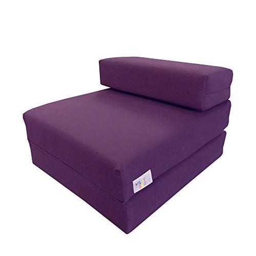 My Layabout Kids Waterproof Z Bed/Chair Sofa bed/Fold up bed Double or Single (Single | 1 Seater, Purple)