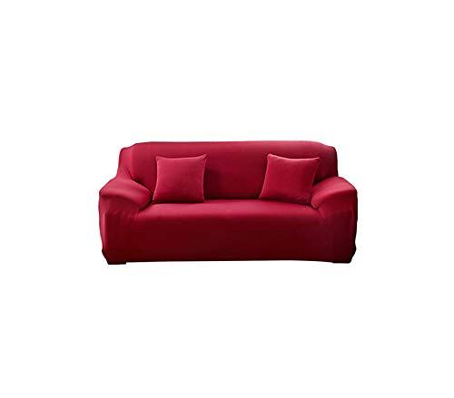 Black-Sky Cubre sobre la Cubierta de Tela sofás sillones sofá slipcover Soild Corner elástica Cubierta del sofá l Tramo en Forma de Muebles Cubierta de sofá, Vino Tinto, 145x185cm