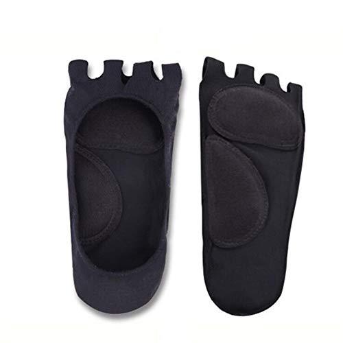 1 par de unisex adulta del pulgar del dedo del pie valgo y superposición del dedo pulgar Correctores corrección ortopédica, con punta-Cinco fascitis plantar invisible punta abierta calcetines