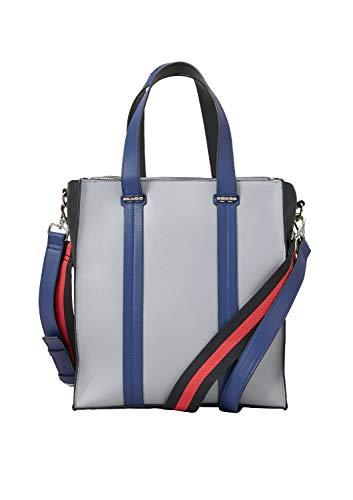 s.Oliver (Bags Damen Shopper Henkeltasche, Grau (Light Grey), 14x26x30 cm