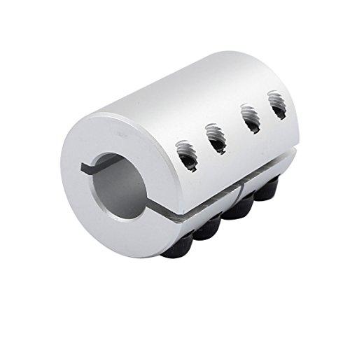 8mm to 6.35mm Shaft Coupling 40mm Length 25mm Diameter Coupler Aluminum Alloy Motor for 3D Printer CNC Encoder DIY Machine