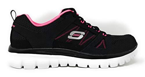 Skechers Graceful 2.0 Magnificent Journey Walking Shoes, 8.5 B US Wide fit, (Black/Hot Pink/Romance Novel) Wide fit