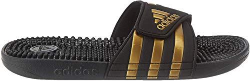 adidas Unisex-Adult Adissage Sandal, Core Black/Gold Metallic/Core Black, 40.5