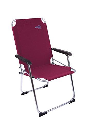 Juego para Acampada Copa Rio - Plegable-Silla de Aluminio Rojo 51 x 58 x 96 cm Capacidad de Carga 110 kg