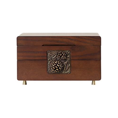 XTXY Caja De Almacenamiento De Caja De Joyería De Madera Vintage Retro, Caja Organizadora, Caja para Pendientes, Pulsera, Regalo para Mujeres, Novia, Cumpleaños, Aniversario