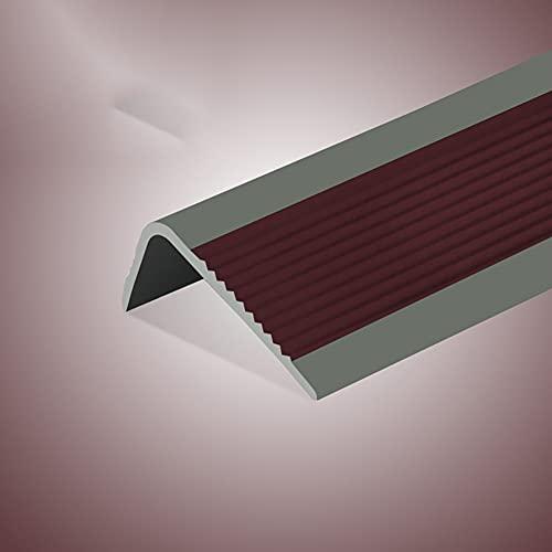 Protector antideslizante para escaleras, tiras de goma en forma de L, para escaleras de madera, metal, 100 cm